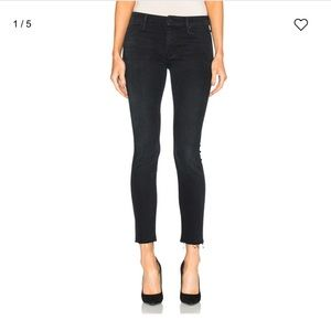 Mother looked ankle fray denim